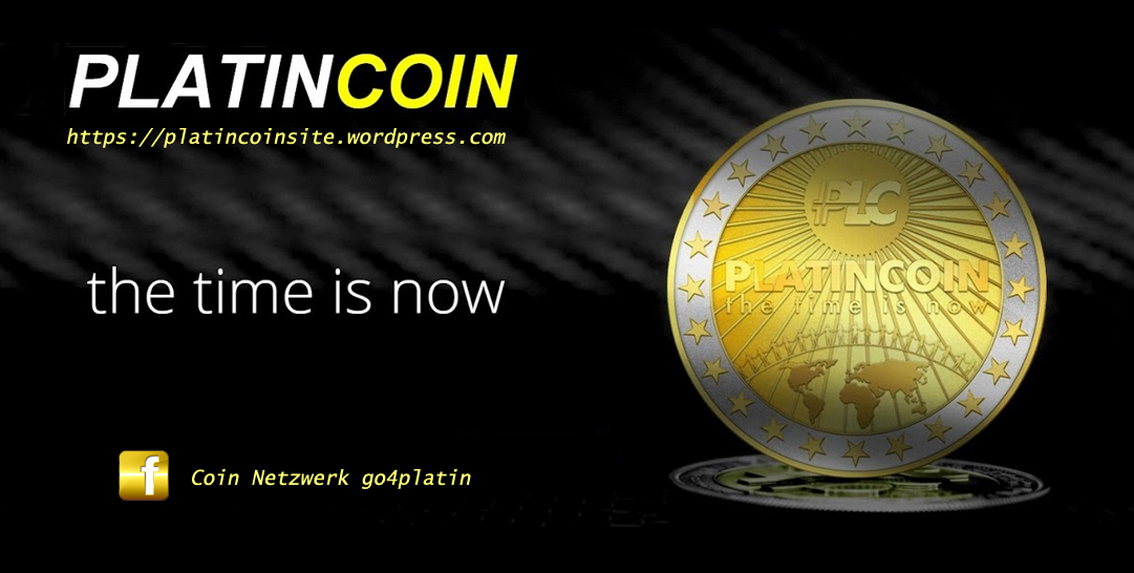 Platincoin Logo the ime is now