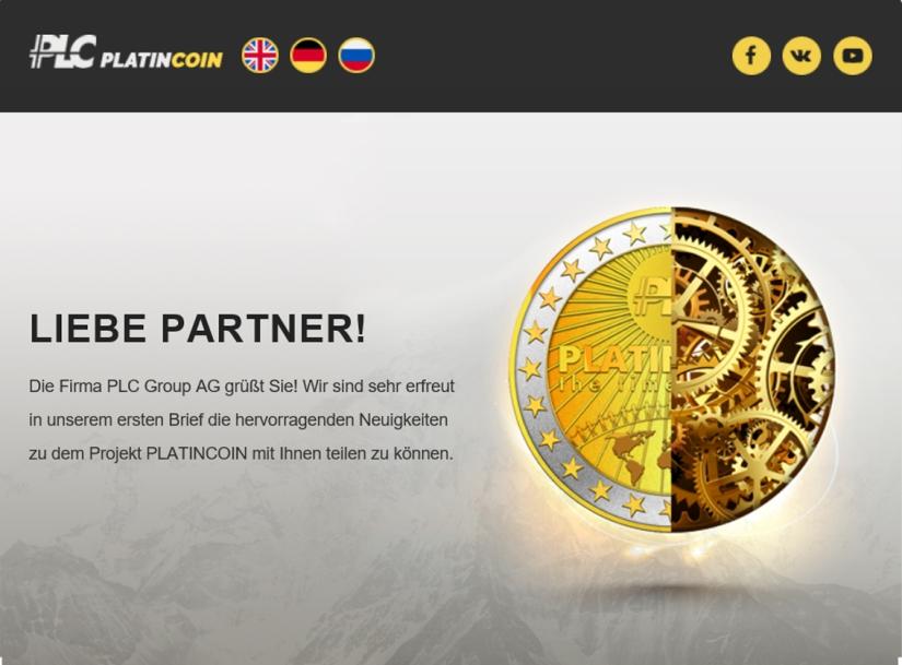 Liebe Partner plc platincoin