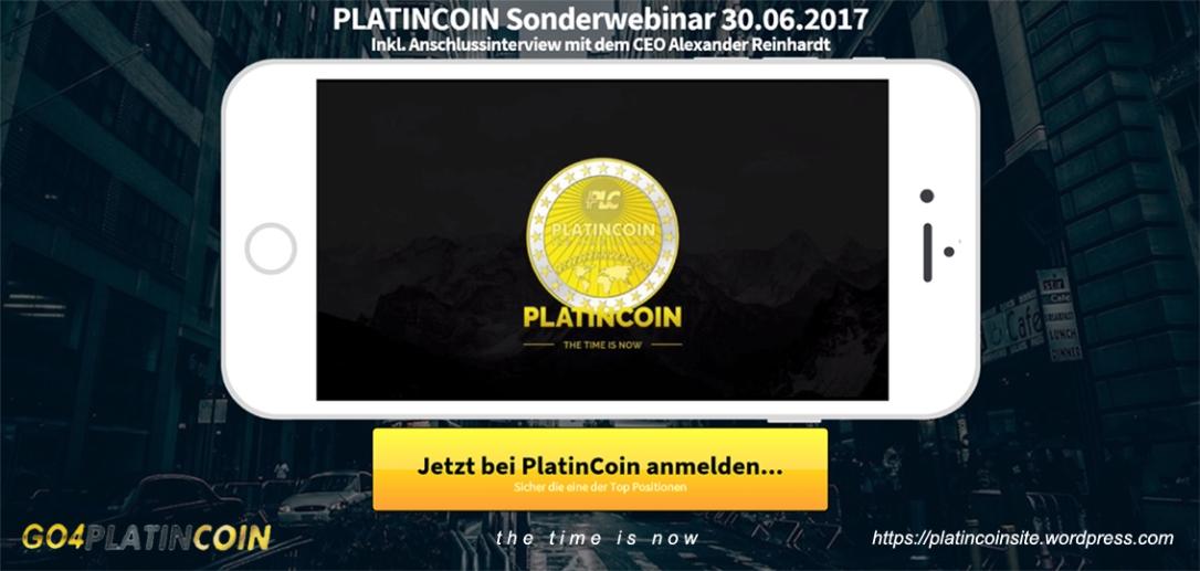 platincoin Sonderwebinar 30.06.2017 CEO Alexander Reinhard coin netzwerk go4platin