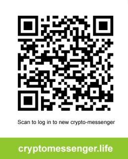 scan to log krypto messenger