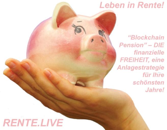 sparschwein auf hand - RENTE.LIVE
